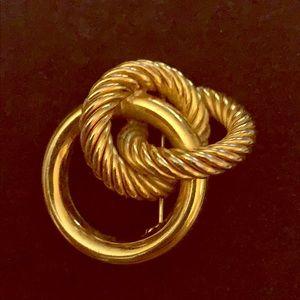 Christian Dior vintage brooch GOLD tone